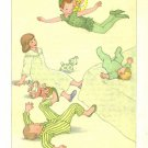 Peter Pan, Vintage Print, Peter Flying Around the Darling Children