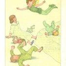 Peter Pan, Vintage Print, Peter Flying Around the Darling Children
