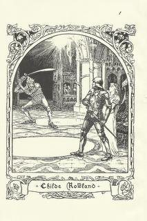 """Childe Rowland"", Vintage Print, English Fairy Tale Series"