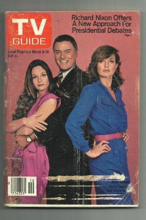 TV Guide Magazine, March 14, 1980, Dallas, J.R., Sue Ellen and Kristin; FREE SHIPPING