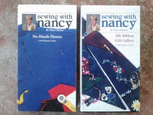 Sewing with Nancy, Set of 2 VHS Video Tapes; Silk Ribbon & No-Hassle Fleeces; Instructional