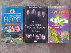 Bill & Gloria Gaither Gospel Series Collection, VHS; Whispering Hope, Bloopers & Gaither Vocal Band