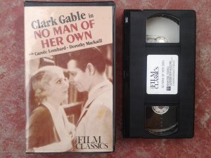 No Man of Her Own 1932 Clark Gable, Carole Lombard; VHS; CLASSIC MOVIE; Pre-Code Film