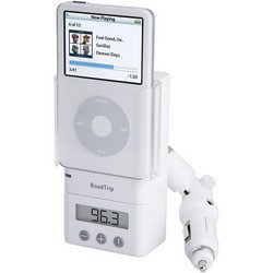 RoadTrip FM Transmitter and Car Charger for iPod