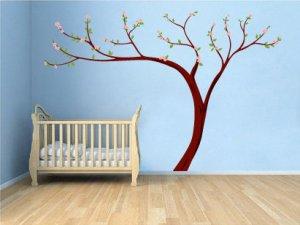 Kids Cherry Blossom tree vinyl wall decal