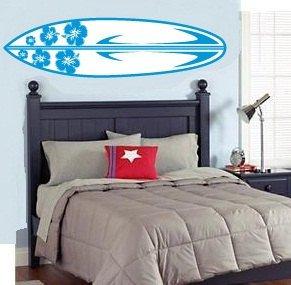 kids teen boy or girl surfboard Removable vinyl wall decal nursery sticker mural