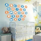 Kids Alphabet in circles A-Z vinyl wall decal
