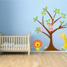 ON SALE Kids tree set Everything you need owls monkey lion giraffe flowers vinyl wall decal