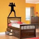 ON SALE Kids vinyl wall decal football player we can do any color any size