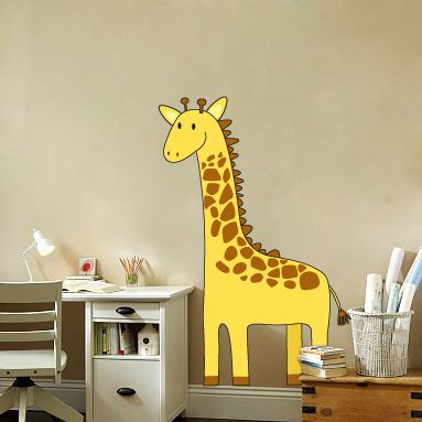kids vinyl wall decal Toby the giraffe great for nursery or kids room