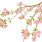 cherry blossom tree branch vinyl wall decal
