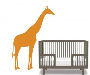 Kids children's vinyl wall decal Cute Giraffe You pick any color