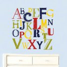 Kids Vintage Letters of the Alphabet abc can do it in any colors A-Z
