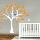 NEW LOOK childrens removable vinyl wall decal Tree with Giraffe owl and birds