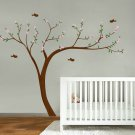 "Kids Cherry Blossom tree vinyl wall decal 108""x84"" with 4 FREE birds"