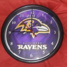 THe Ravens 3 personalized clock