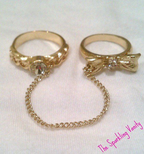 Double Finger Chain Ring