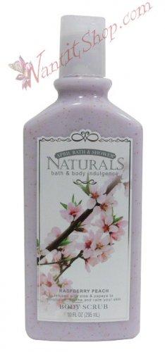 Bath & Body Indulgence BODY SCRUB Raspberry Peach 10fl oz (295 mL)