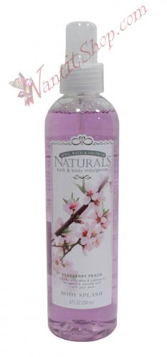 Bath & Body Indulgence BODY SPLASH Raspberry Peach 8fl oz (236 mL)