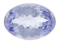 PURPLISH BLUE TANZANITE OVAL CUT GEMSTONE 4x3mm - FREE SHIPPING