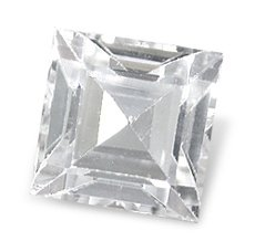 WHITE TOPAZ SQUARE CUT GEMSTONE 2mm - FREE SHIPPING