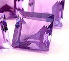 PURPLE AMETHYST SQUARE CUT GEMSTONE 4mm - FREE SHIPPING