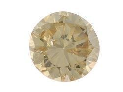 CHAMPAGNE DIAMOND ROUND CUT GEMSTONE 3.7mm .20ctw - FREE SHIPPING