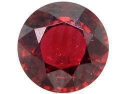 RED-PINK GARNET ROUND CUT GEMSTONE 4mm - FREE SHIPPING