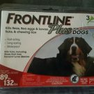 Frontline Plus For Dogs 89 to 132 LBS. New & Sealed!