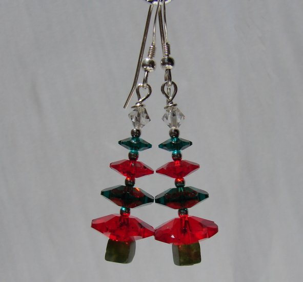 Swarovski Crystal Christmas Tree Earrings - C107