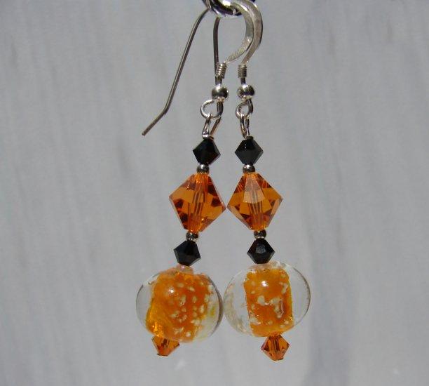 Glow in the Dark Orange Halloween Earrings - E14