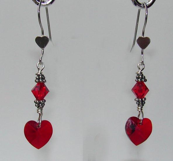 Swarovski Crystal Heart Earrings for Valentine's Day - R135