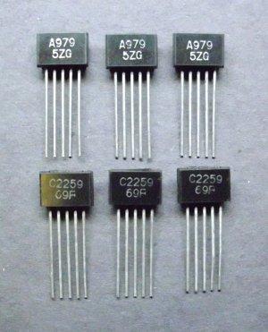 2SC2259 C2259 2SA979 A979 dual transistor new NOS parts for audio 2SC-2259 2SA-979