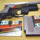 Mario Brothers - Duck Hunt game cartridge with the original gray colored Light Zapper gun