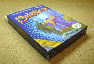 Solstice, NES game with box, from CSG Imagesoft Inc.