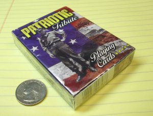 """Bicycle brand playing cards """"Tribute playing cards""""  honors Veterans."""
