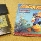 Zelda 2 NES and Nintendo Power magazine 1988 July, August, The Adventure of Link game cartridge