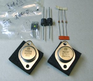 Soundcraftsman, 2N6287 , 2N6284 , triac 6015L5 , 5 diodes, NOS parts.