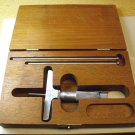 Lufkin 513 Depth gauge, 0-3 inch range, 3 inch wide base, used.
