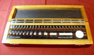 Gauge block set, Germany, 36 blocks, range .05005 to 2 inch, 50 millionths, wooden box. used gage.