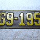 1924 Illinois license plate.