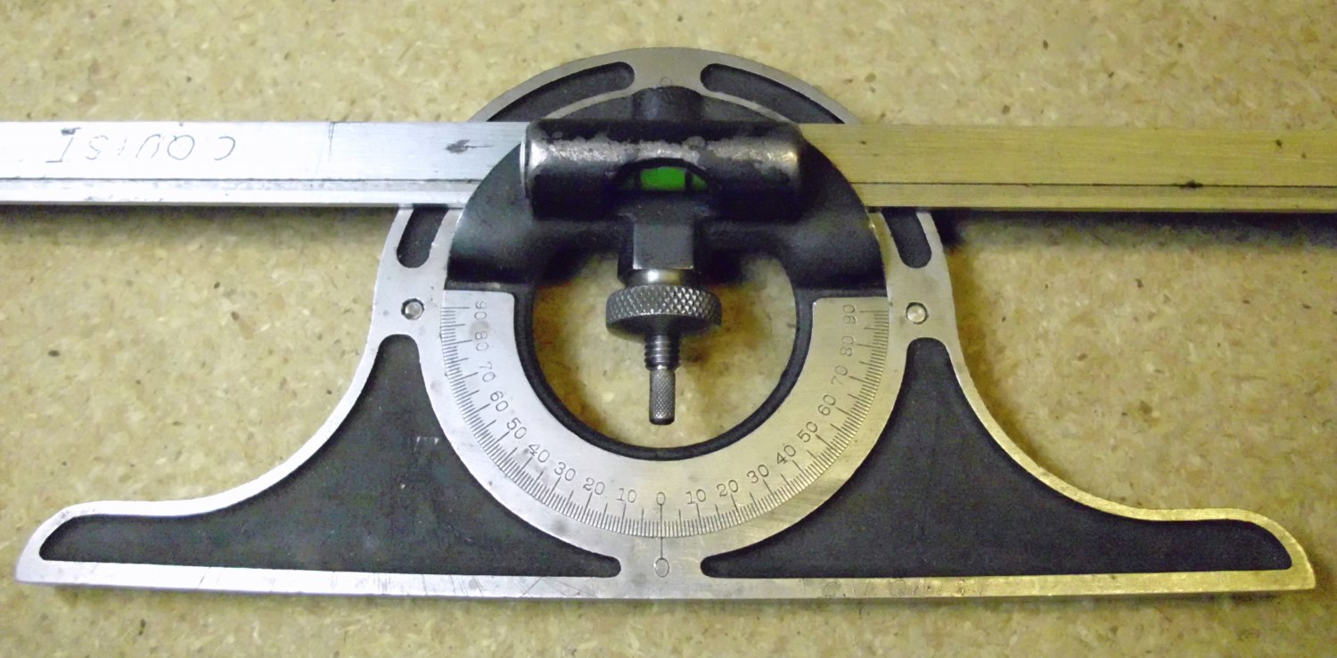 Brown And Sharpe Machinists Protractor With 12 Inch Blade