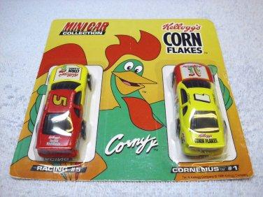 Kellogg's Corn Flakes Mini Car Collection, Terry Labonte # 5 and Cornelius # 1, 1996, NASCAR.