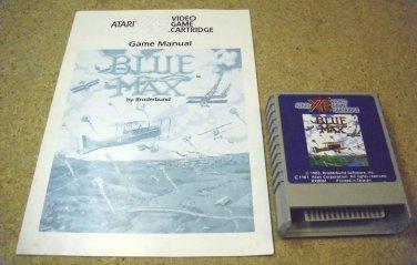 Blue Max , Atari 800 XL XE game cartridge with manual 1987, RX8081.
