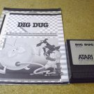 Dig Dug , 1986 Atari 800 XL game cartridge RX8026 with manual and upgrade supplement paper insert.