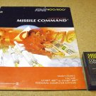 Missile Command , for Atari 800 XL computer, 1981, game cartridge and manual, CXL4012.