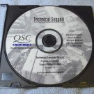 QSC repair manuals CD factory Support and Reference disk Version 1.1 Amplifiers