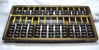 Abacus, pretty old, and original handmade, made of wood and brass.