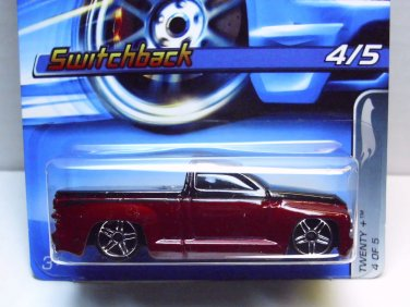 Switchback, Hot Wheels 2005, Twenty + series, red and black with retail display card. 119