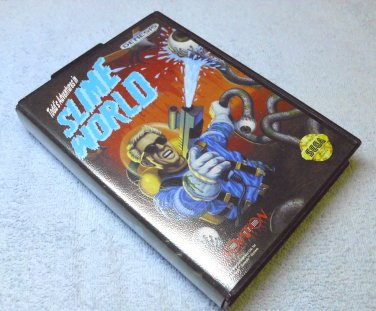 Slime World, Todd's Adventures in, Sega, with game manual, case, poster.